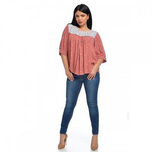 Bluza platca combinata V116 2