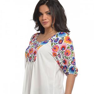 Bluza platca flori V104 2