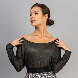 Bluza pulover lana gri Rachael4