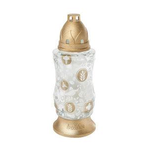 Candela decor sticla Bolsius 4D NAT