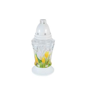 Candela sticla Bo 3D lalea