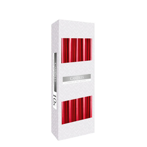 Lumanare conica 10 bucati pe set culori metalizate CO 10 S30 230 Rosu metal