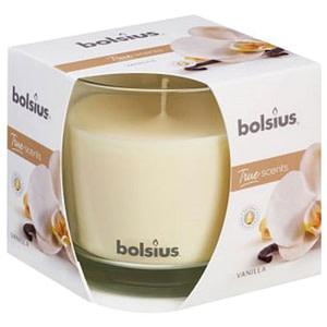Lumanare parfumata Bolsius in pahar mare – True Scents Vanilie