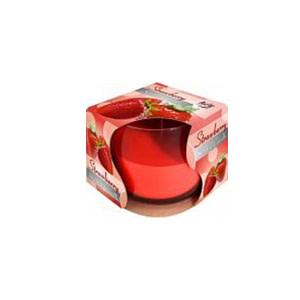 Lumanare parfumata in pahar de sticla capsuni SN 71 73 capsuni
