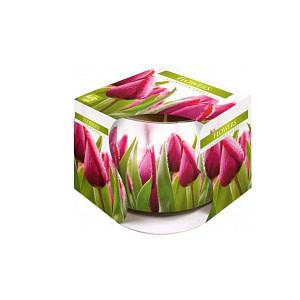 Lumanare parfumata in pahar de sticla imprimat SN 71 07 flori