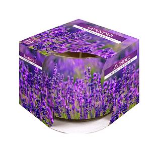 Lumanare parfumata in pahar de sticla imprimat SN 71 09 lavanda
