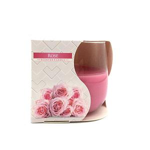Lumanare parfumata in pahar de sticla trandafir SN 70 78 trandafir 2