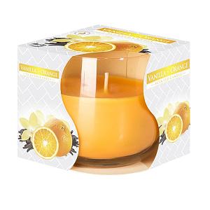 Lumanare parfumata in pahar de sticla vanilie si orange SN 71 37 vanilie orange