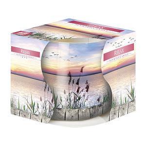 Lumanare parfumata in pahar imprimat Relax SN71S 32