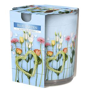 Lumanare parfumata in pahar imprimata Blue Garden SN 72 XX Blue Garden