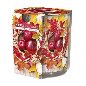 Lumanare parfumata in pahar imprimata Golden Autumn SN 72 xx Golden Autumn