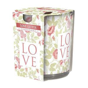 Lumanare parfumata in pahar imprimata Love Letter SN 72 xx Love Letter