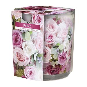 Lumanare parfumata in pahar imprimata Roses SN 72 xx Roses
