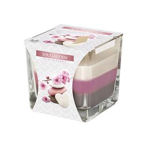 Lumanare parfumata in pahar in trei culori Spa Garden SNK80 104 254 SPA