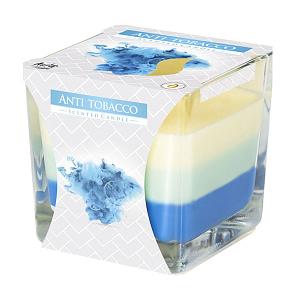 Lumanare parfumata in pahar in trei culori anti tabac SNK80 69 anti tabac