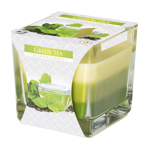 Lumanare parfumata in pahar in trei culori ceai verde snk80 x ceai verde