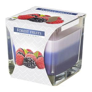 Lumanare parfumata in pahar in trei culori fructe de padure SNK80 13 fructe de padure