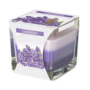 Lumanare parfumata in pahar in trei culori lavanda SNK80 79 lavanda
