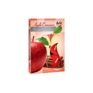Lumanare pastila parfumata 6 bucset aroma mar si scortisoara P15 xx mar si scortisoara