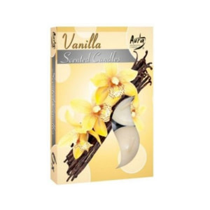 Lumanare pastila parfumata 6 bucset aroma vanilie P15 xx vanilie