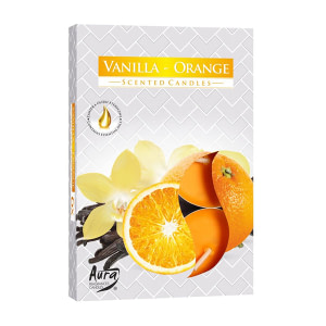 Lumanare pastila parfumata vanilie si portocala P15 37 vanilie si portocala