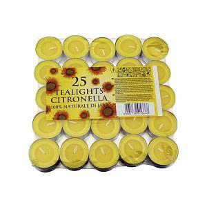 Lumanari pastila citronella 25 bucati CIT P25