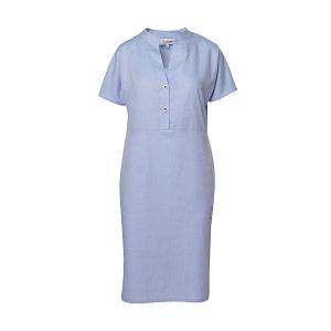 Rochie camasa din bumbac bleu Aisha1