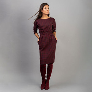 Rochie conica bumbac pepit Anisa1