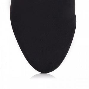 botine dama black cu buline l90 1