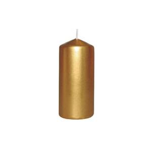 lumanare stalp 50x100 mm culori metalizate auriu