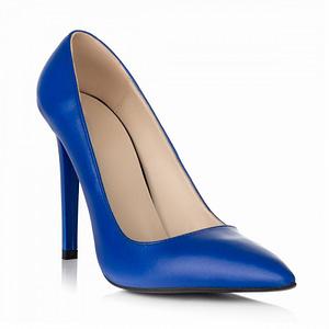 pantofi albastri din piele naturala stiletto all day s34 1  1