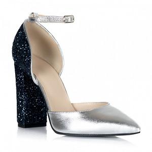 pantofi argintii din piele naturala edria s105 1