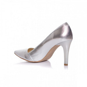 pantofi argintii din piele naturala sara l7 1