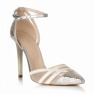 pantofi argintii din piele naturala sara s31 1