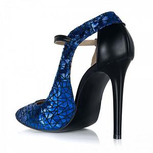 pantofi arina din piele naturala albastrii s108 1