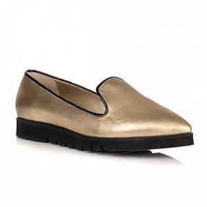 pantofi aurii cu talpa joasa elisa l2 1