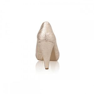 pantofi aurii din piele naturala caro n118 1