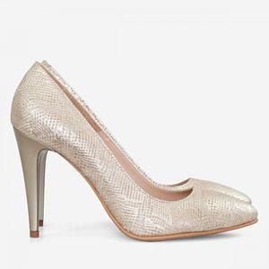 pantofi aurii sarpe piele d02 1