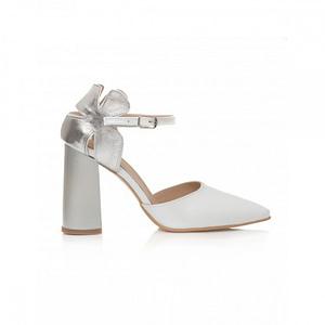 pantofi bej din piele naturala flower c17 2