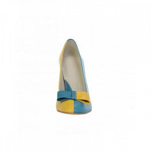 pantofi blue galben combinat 3