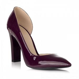 pantofi bordo din piele lacuita glam decupat s25 1