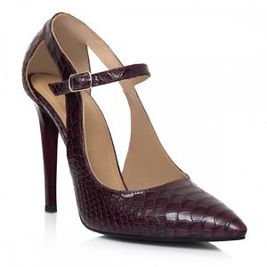 pantofi bordo din piele naturala siera l31 1