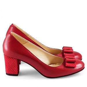 pantofi comozi din piele naturala rosie olivia 3600 4