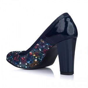 pantofi cu piele multicolora negri 1