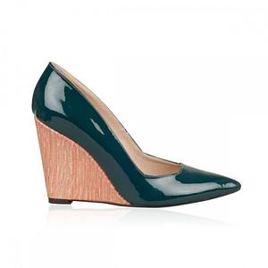 pantofi cu platforma grean heart 1