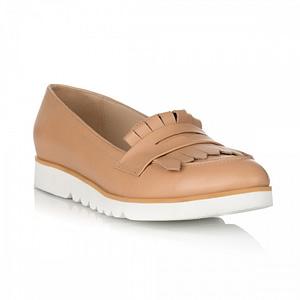 pantofi cu talpa joasa martin camel 1