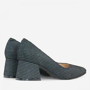 pantofi cu toc evazat anafashion 1