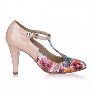 pantofi dama cu bareta nude multicolor v12 1