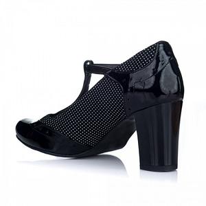 pantofi dama elvira cu bareta negru cu buline v2 1
