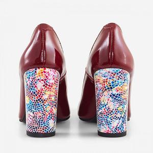 pantofi dama estela bordo anafashion 1